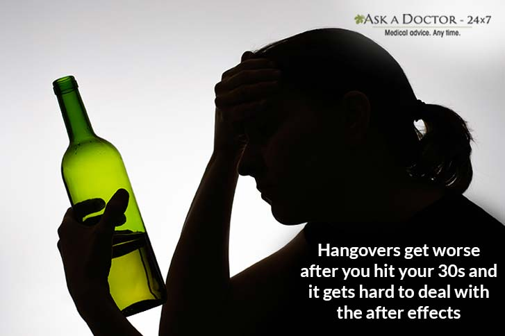 Why Hangovers Hurt Worse After 30? Here are the Reason and a Definite Solution to it!