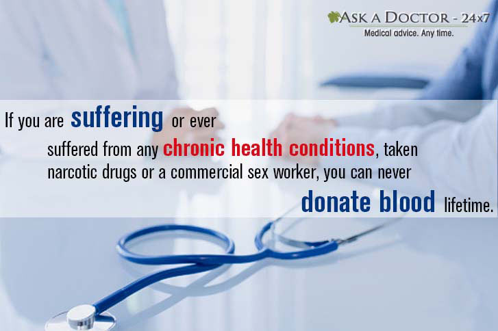 doctor patient talking about blood donation norms =