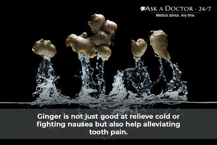 ginger washed in water =