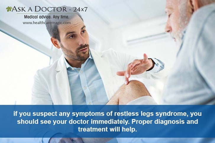 man speaking with doctor about restless leg =
