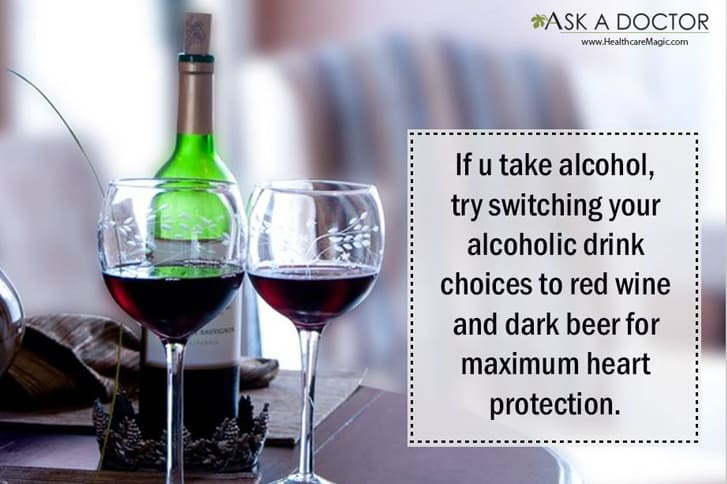 glass of re wine with its benefits  =