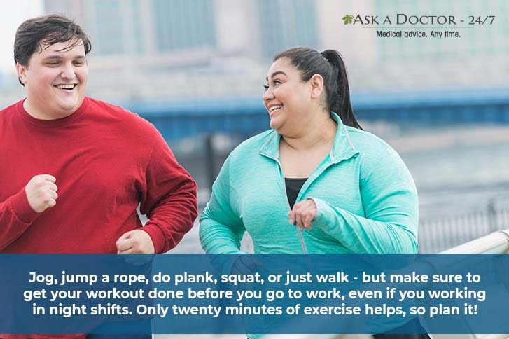 an obese man and a woman jogging=
